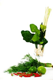 Tom Yum Kung Herb Ingredient Stock Photo