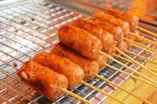 Free Thai Sausage Royalty Free Stock Photo - 17225205