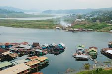 Houseboat In Thailand Royalty Free Stock Image