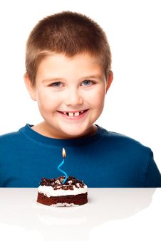 Free Young Boy Deciding To Eat A Dessert Royalty Free Stock Photos - 17225748