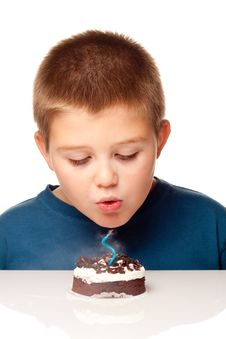 Free Young Boy Deciding To Eat A Dessert Royalty Free Stock Images - 17225759