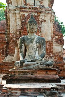 Free Buddha Statue In Ayutthaya Province Royalty Free Stock Photo - 17225865