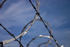 Free Barbed Wire Against A Blue Sky Stock Photos - 17225893