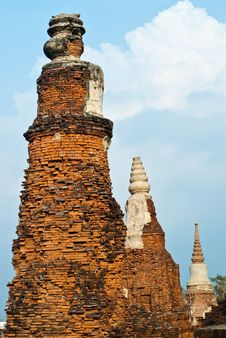 Free Old Pagoda In Ayutthaya Province Stock Photos - 17225923