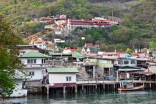 Seaside Village At At Srichang Island Royalty Free Stock Photography