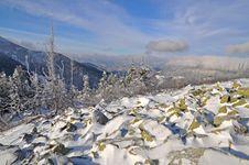Free Winter Stone Hillside. Stock Photos - 17226313