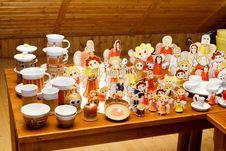 Hand-made Ceramic Christmas Decorations Stock Images