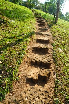 Free Rock Path In Natural Park Stock Images - 17226874