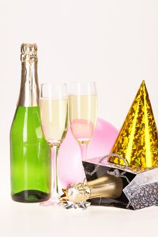 Free Champagne And Party Royalty Free Stock Photo - 17226875