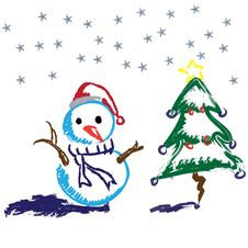 Free Snowman Royalty Free Stock Photography - 17227177