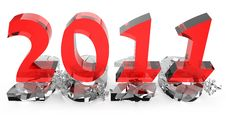Free 2011 New Year Comes Into Legal Rights Royalty Free Stock Image - 17227356