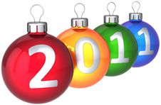 Free New 2011 Year Colorful Baubles Stock Photos - 17227793