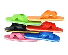 Side View Of Flip Flops Mix Colour Stock Image