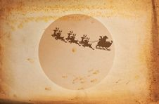 Vintage Paper And Santa Claus Royalty Free Stock Photos