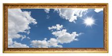 Isolated Vintage Photo Frame Royalty Free Stock Images