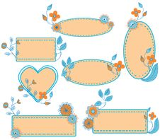 Free Floral Frames Set Royalty Free Stock Photos - 17228788