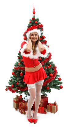 Free Sexy Female Santa Stock Photos - 17228843