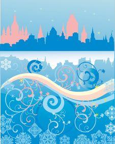 Free Winter City Blue Landscape Stock Images - 17228884