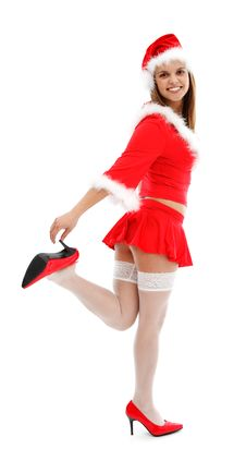 Free Sexy Santa Girl Royalty Free Stock Images - 17228909