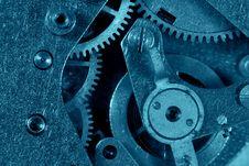 Free Blue Gear Machinery Stock Image - 17228911