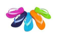 Free Phylon Flip Flop Mix Color Stock Photography - 17229082