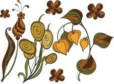 Free Set Of Autumn Plants Royalty Free Stock Photography - 17229527