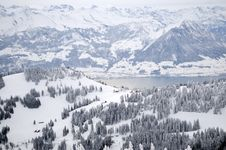 Free Winter Mountain Landscape Royalty Free Stock Photography - 17229607