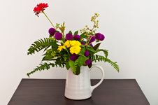 Free Colorful Flowers In White Cup Royalty Free Stock Photography - 17229967