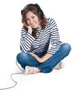 Free Girl With Headphones Stock Photo - 17231750