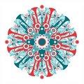Free Beautiful Symmetric Pattern On A Musical Theme Stock Photography - 17233022