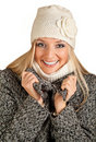 Free Portrait Of Blond Woman In Winter Clothes Royalty Free Stock Photos - 17233058