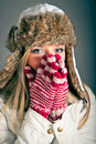 Free Portrait Of Blond Woman In Winter Clothes Royalty Free Stock Photography - 17233457