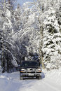 Free Suv, Car, Driving In Snowy Country Stock Photos - 17235953