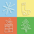 Free Christmas Icons Stock Image - 17237401