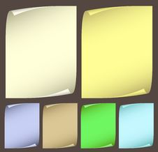 Collection Color Paper Stock Photography