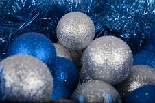Christmas Evening Balls Close-up Stock Images