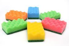 Free Group Of Sponges - Isolated Stock Photography - 17231692