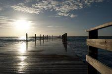 Free Beach Jetty Royalty Free Stock Photo - 17232605