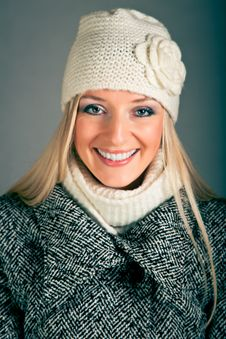 Free Portrait Of Blond Woman In Winter Clothes Stock Images - 17233084