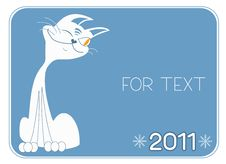 Free Cat .New Year Symbol For Text Stock Image - 17233641