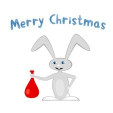 Cartoon Bunny With Presents Royalty Free Stock Photography