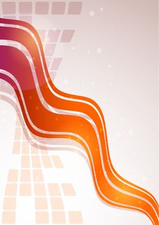 Free Modern Color Background With Waves Stock Images - 17234334