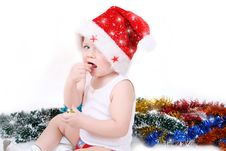 Free Boy Santa Claus Stock Photography - 17234342