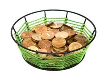 Free Basket With Money Royalty Free Stock Photo - 17235265