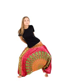 Free Girl In Ethnic Trousers Royalty Free Stock Photography - 17235297