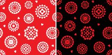 Set Of Seamless Pattern Stock Photo