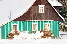 Free Cottage In Winter Royalty Free Stock Photos - 17236298
