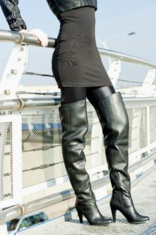 Detail Of Standing Woman Royalty Free Stock Photography