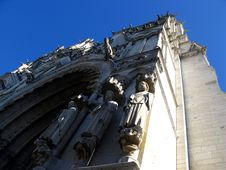 Fragment Of Notre-Dame In Chartres Stock Image
