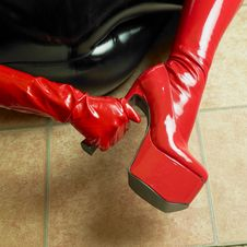 Free Latex Boots Stock Image - 17236701